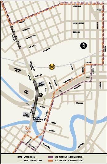 North Main Line Detour Map