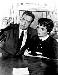 Screenshot from the TV courtroom show Perry Mason