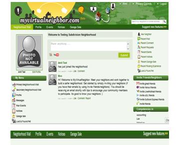 my virtual neighborhood profile