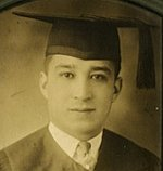 A photo of Perales in his graduation cap and gown, after receiving his law degree