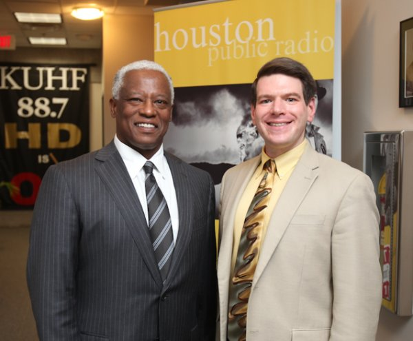 Anthony Chase with KUHF's Andrew Schneider