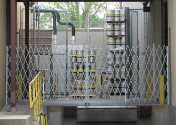 Karbach Brewery kegs