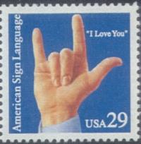 ASL 'I Love You' Stamp