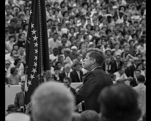 JFK at the podium