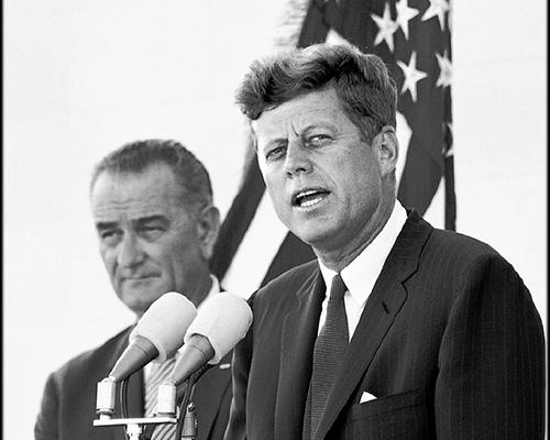 President JFK and VP Lyndon Johnson