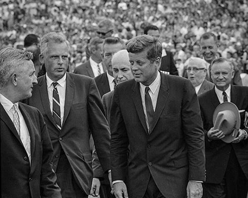 JFK walking