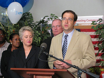 Mayor Parker with Tory Gunsolley