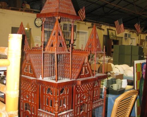 Antique bird cage from R. Allen Stanford's Virgin Island Estate