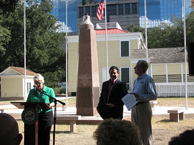 Mayor Parker at USS monument