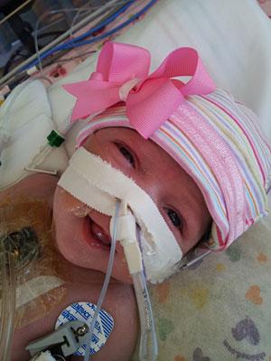 Baby Audrina Cardenas smiling
