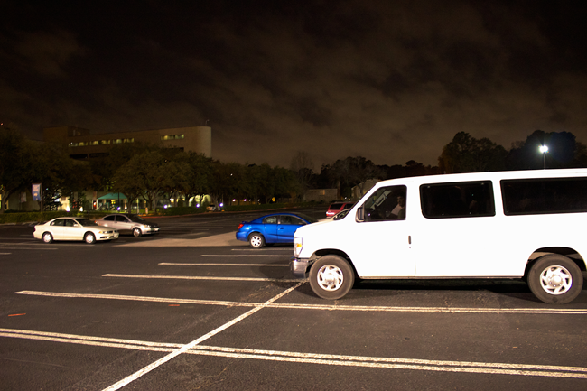 Elijah Rising begins their tour in the parking lot of First Baptist Church off of the Katy Freeway. The nonprofit added that the van with tinted windows sometimes intimidates would-be customers.