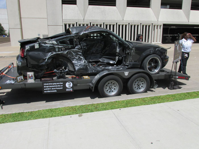 Aaron Pennywells car he was driving when killed by drunk driver