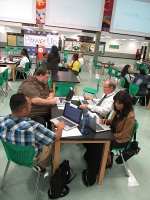 Teachers being coached as part of the Power Up program