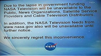 NASA TV shutdown message