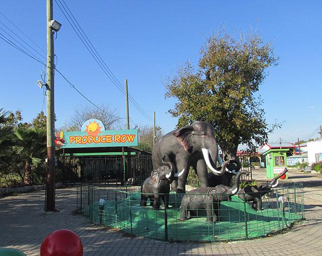 flea market entrance