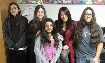 students will donate their hair to cancer patients and raise awareness about cancer