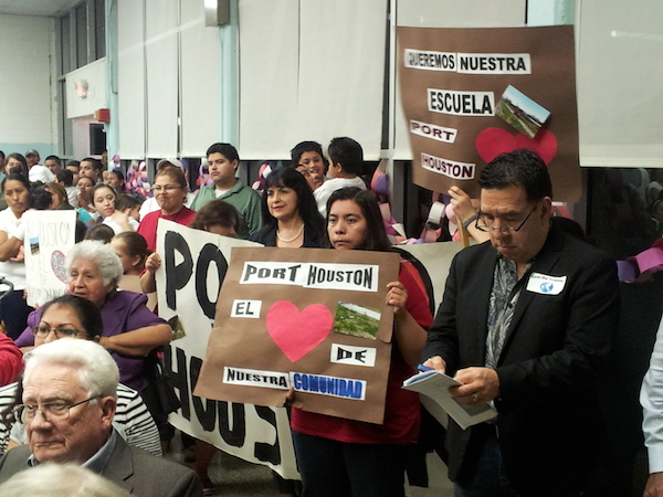 More than 90 percent of the students at Port Houston Elementary are Hispanic. The school is one of five HISD schools facing possible closure (Photo by Nimra Haroon)