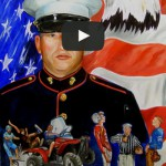 VIDEO: Artist Honors Fallen Soldiers With Portraits