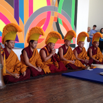 A group of Buddhist monks are in Houston to create a traditional sand mandala, which will later be destroyed.