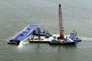 2 Barges Collide Near Entrance To Houston Ship Channel