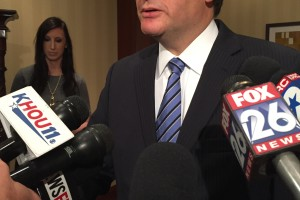 U.S. Senator from Texas Ted Cruz visited Houston to delivered the State of the Senate address.