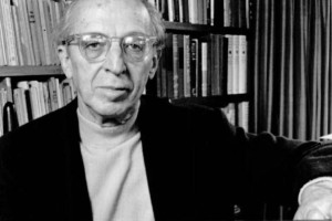 """Photograph of Aaron Copland for the """"Young Peoples' Concerts"""" series produced by CBS television and the New York Philharmonic, c. 1970."""
