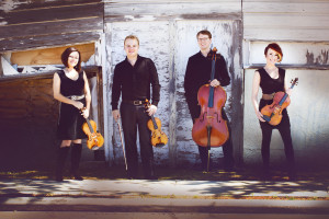 Publicity photo of Apollo Chamber Players, a Houston-based string quartet.