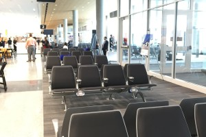 A view of the five new gates at the international terminal