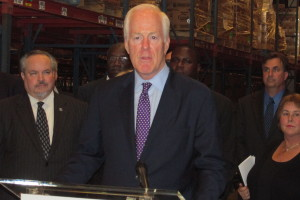 Picture of John Cornyn at a press conference