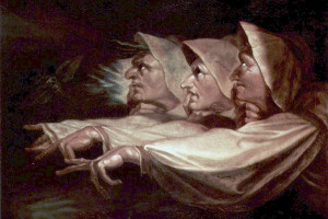 The Weird Sisters or The Three Witches, Henry Fuseli (1741-1825) Public domain